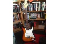 Fender Squire Electric Guitar and Amp