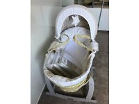 Mamas and Papas Moses Basket and Stand. Smoke free home - Other items also for sale if interested?