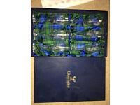 6 Brand New Gleneagles Crystal Rennie Mackintosh champagne flutes