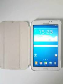 Samsung Galaxy Tab 3 7-inch Tablet - White Excellent Condition - with Official Samsung Book Case