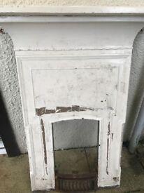 Antique cast iron fire place