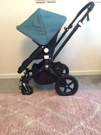 Genuine All Black Bugaboo Cameleon 3 with new style seat fabric
