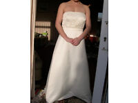 Ivory Satin Wedding Dress - Brand new without tags