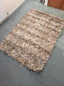 Designer Leather Bespoke Rug. Size. 6ft - 4ft. £35.00 Call. Steve. 07958547592