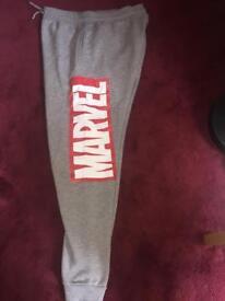 Grey Marvel Jogging Bottoms