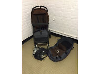 Bugaboo Cameleon II with Carrycot and rain cover