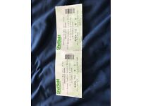 Two Tickets for the PDC darts in Sheffield 4th May 2017. The seats are together.