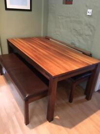 John Lewis dining table and benches