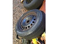 Vauxhall vectra c 16 inch steel wheel with as new tyre