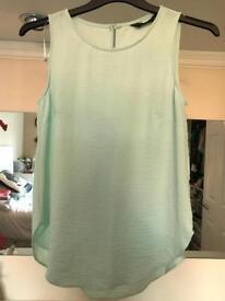 Turquoise vest top