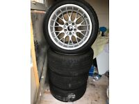 BMW STAGGERED RONDELL 058 ALLOY WHEELS VW 5x120 Rare BBS DEEP DISH GERMAN ALLOYS