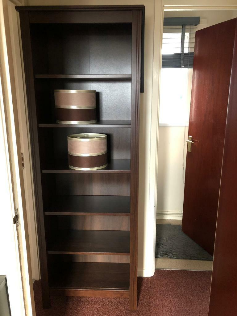 Bookcase, Side Table And Lamp Shades