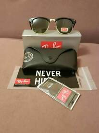 Ray-Ban clubmaster sunglasses green lens