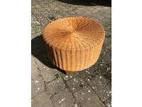 Wicker occasional stool/side table