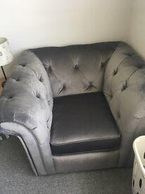 armchair from dfs ashby velvet brand new