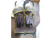 Babystart double buggy with hoods