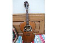 Antique flat-backed mandolin & gig-bag