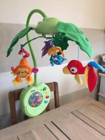 Fisher Price Rainforest Peek A Boo Leaves Musical Mobile (no remote)