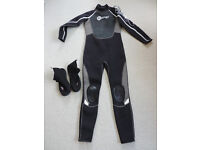 Ospery OSX Womans Full length Wetsuit & Ospery OSX Wetsuit Boots UK5