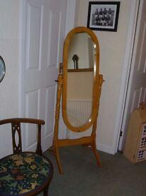 Pine Cheval freestanding Mirror