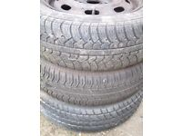 Tyres and wheels x 3 175/65/14