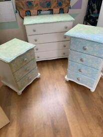 Pine up-cycled drawers
