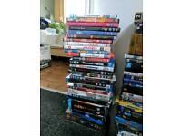 assorted DVD's + blu rays