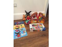 Bing Toys, books, house and figures