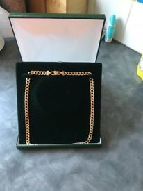 9ct gold men's curb chain, heavy and hardly used