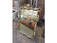 Shabby chic style gold mirror project