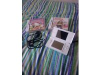 DS lite bundle with 3 games and charger and spotty custom design (removable)