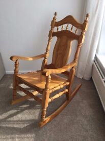 Pine wood Rocking Chair - excellent condition! £60
