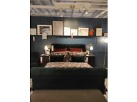 SKJÅNES Upholstered storage bed, with headboard, IKEA MILTON KEYNES #bargaincorner