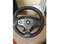 PlayStation wheel/pedal and stand