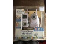 Secure sleep handheld monitor