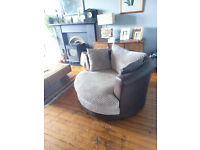 Swivel armchair/love seat