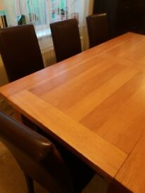 John Lewis Wooden table with 8 chairs
