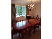 Macintosh dining table & 8 chairs