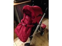 Bebe Confort Loola pushchair/pram with carrycot, maxi cosi car seat adapters and buggy board