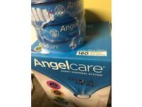 (New) Angelcare nappy bin and 4 x refills.