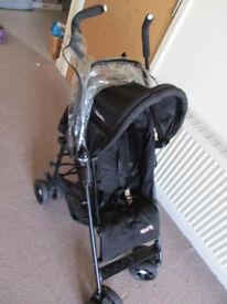 black stroller