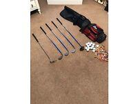 Junior Golf Set - Bag, clubs, tees, balls