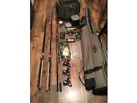 Full pro top end barbel fishing set up