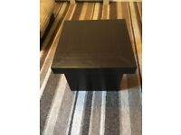 Brown faux leather coffee table in good condition