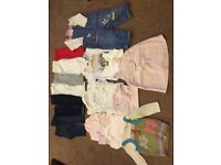 Bundle of baby girls 6-9 month clothes.