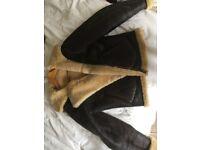 Genuine Dobbs leather flying jacket