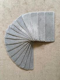 17 silver thick carpet stair pads treads 60cm x 20cm heavy domestic synthetic