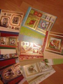 Hunkydory Christmas card kits and extras