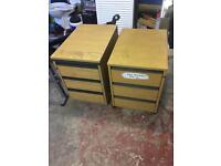 Two filing cabinets 3 draws