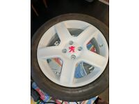 """Peugeot 4X108 17"""" Challenger Alloy Wheels With Tyres"""